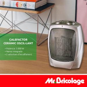Calefactor ceràmic oscil·lant