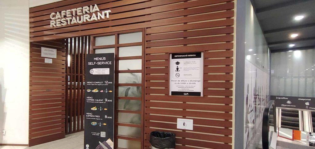 entrada cafeteria restaurant cca